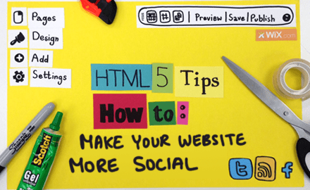 HTML5 Tips: How to Integrate Social Media into your Website