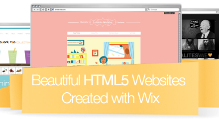Beautiful HTML5 Sites Designed via Wix's Website Builder