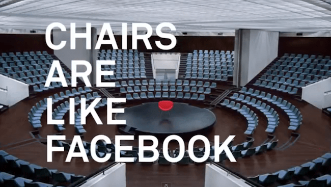 Facebook chairs ad