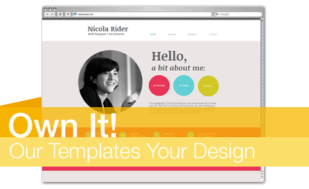 Own it! Our Template, Your Design Round #12