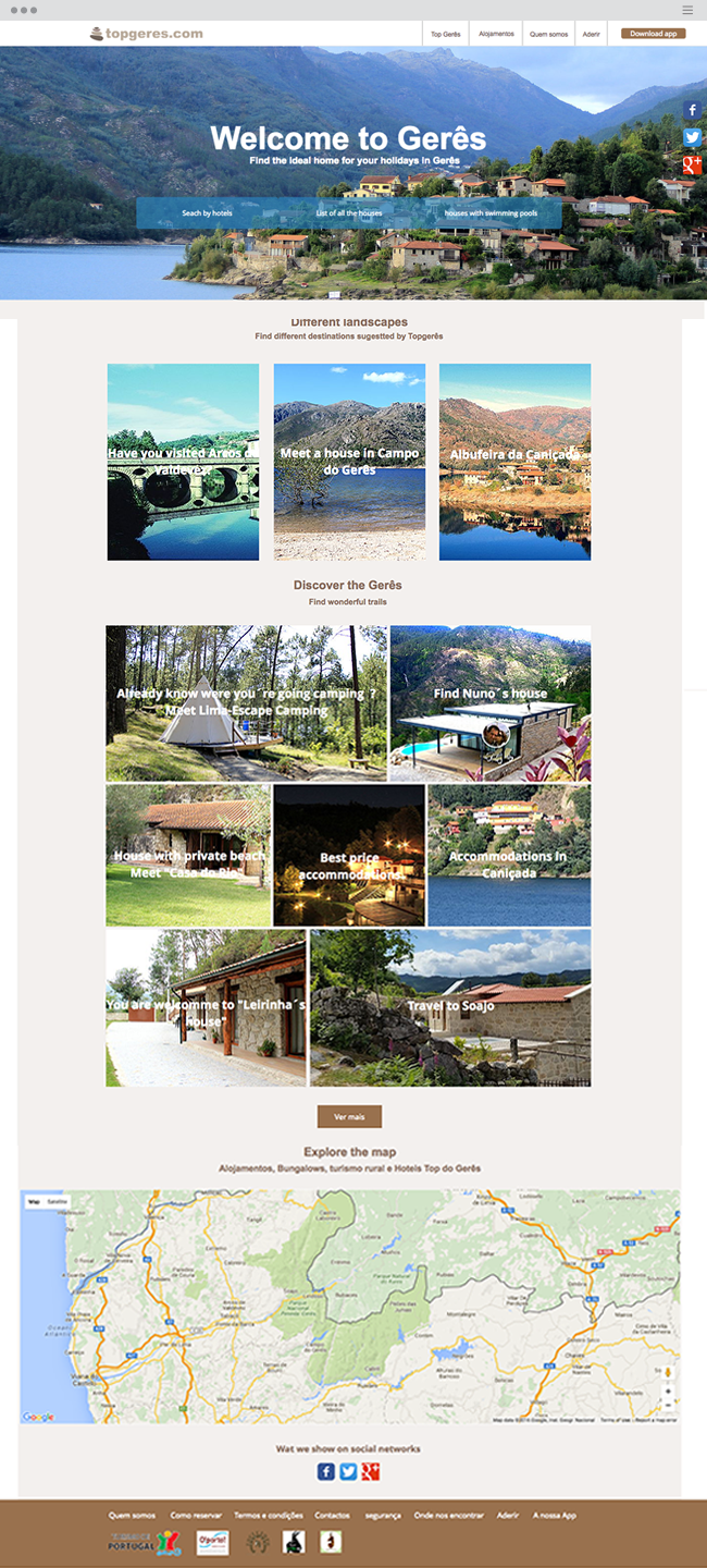 Top Geres Bungalows rural accommodation for rent. Geres Holidays_site