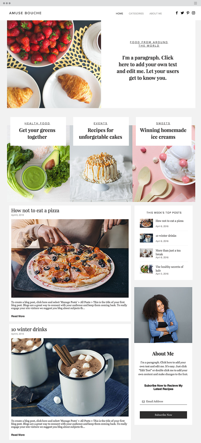 Culinary Blog Website Template_site