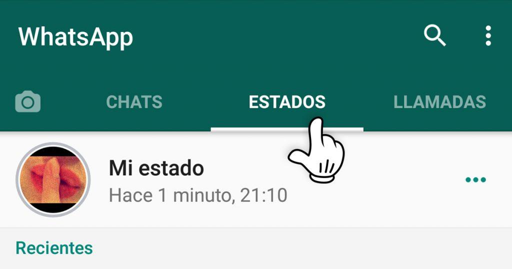 Uso estados whatsapp