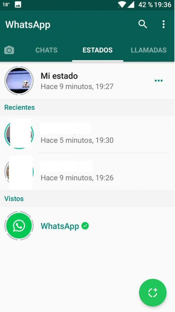Actualizar estados Whatsapp