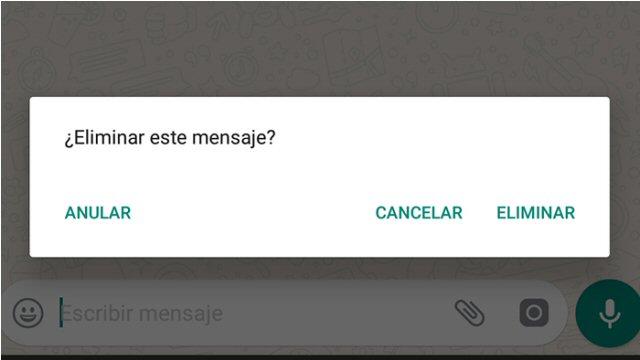Anular mensaje WhatsApp