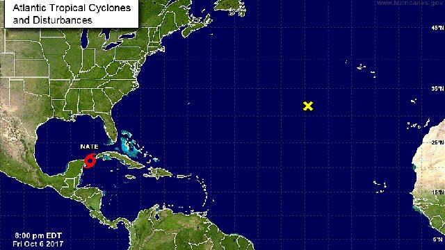 Tormenta tropical Nate se acerca a la Península de Yucatán