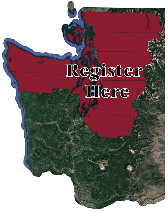 "Map showing the counties of Northwest Washington and text saying ""Register here"""