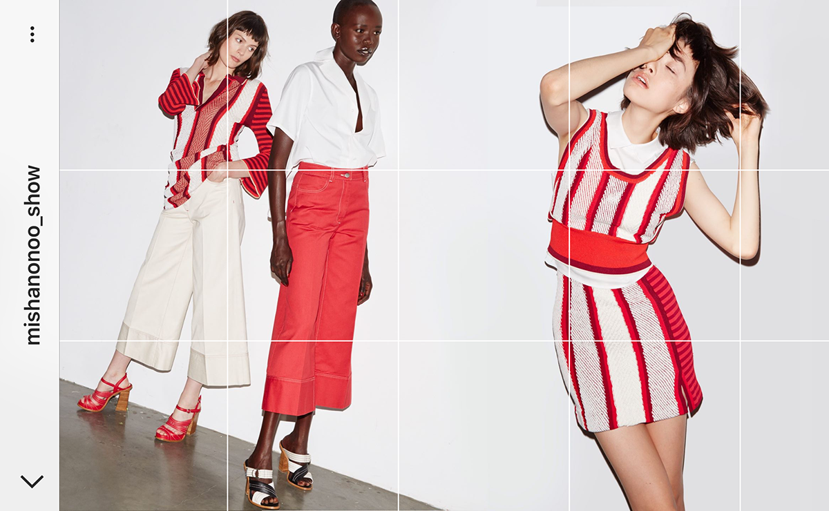Planoly Fashion brands visual marketing instagram Misha Nonoo