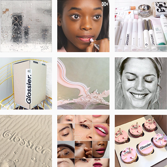 Planoly blog feature Glossier