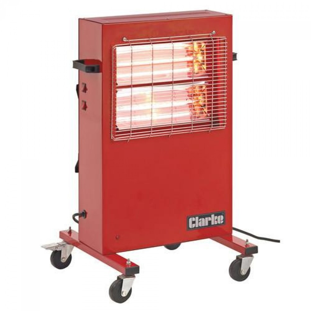 Heatersuk.com redrad110 rapid red rad 110v 3kw portable commercial infrared radiant heater