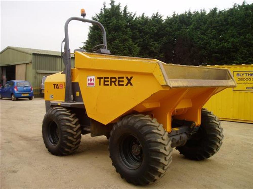 Terex ta9 9 ton forward tip dumper  8
