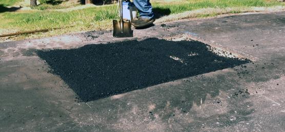 Asphalt driveway patch larkspur