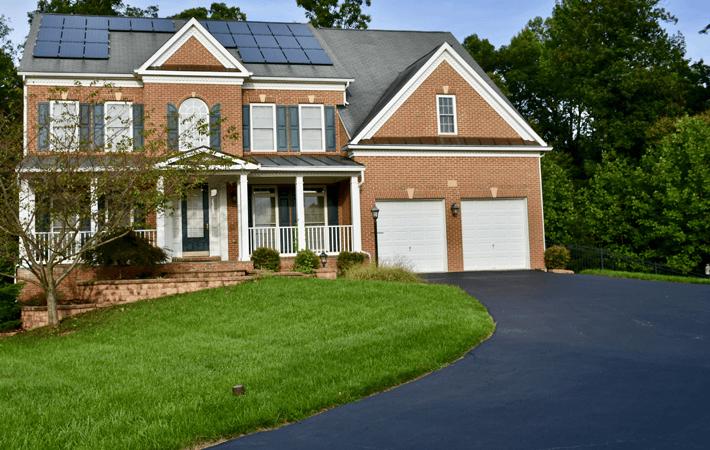 Asphalt residential driveways