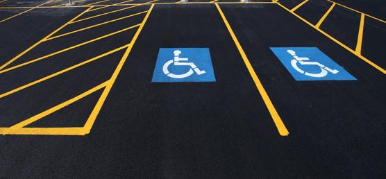 Commercial parking lot asphalt install