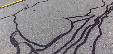 Asphalt crack sealing denver