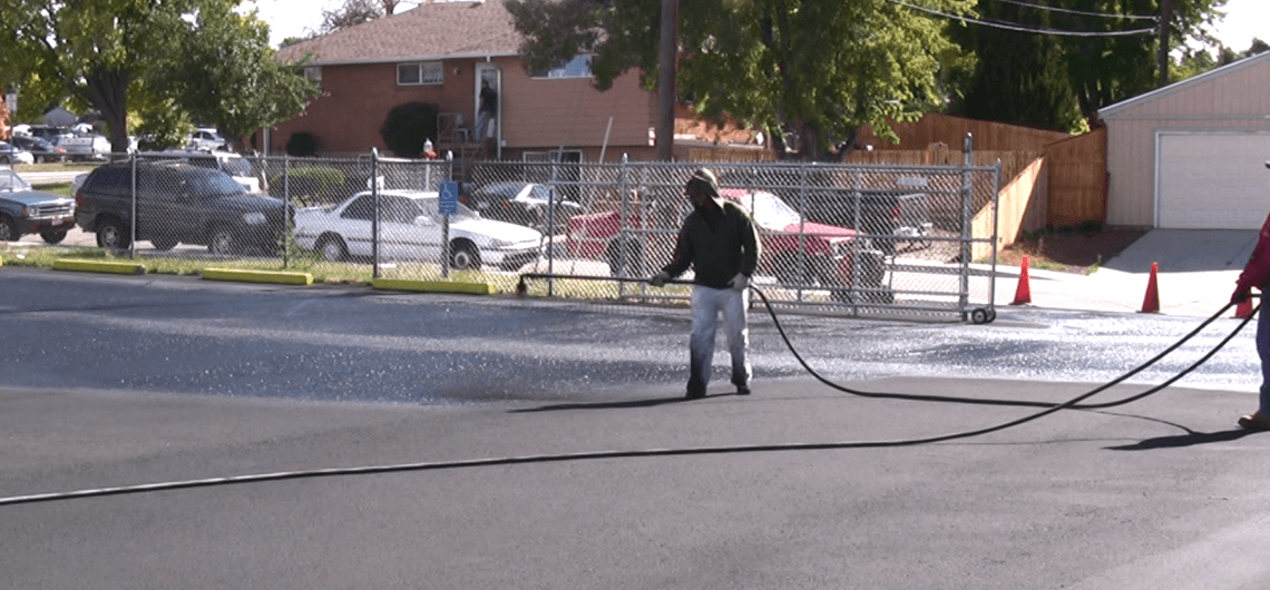 asphalt parking lot repair denver