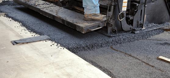 Residential asphalt driveway install