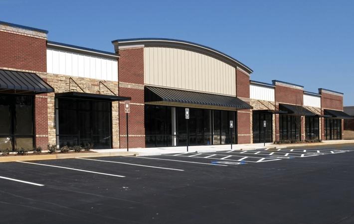 Retail asphalt parking lot