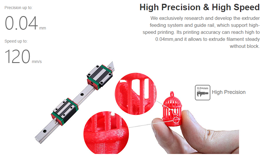 CreatBot F430 Direct Drive Dual Extruder 3D Printer - 400°C Dual Hot ends