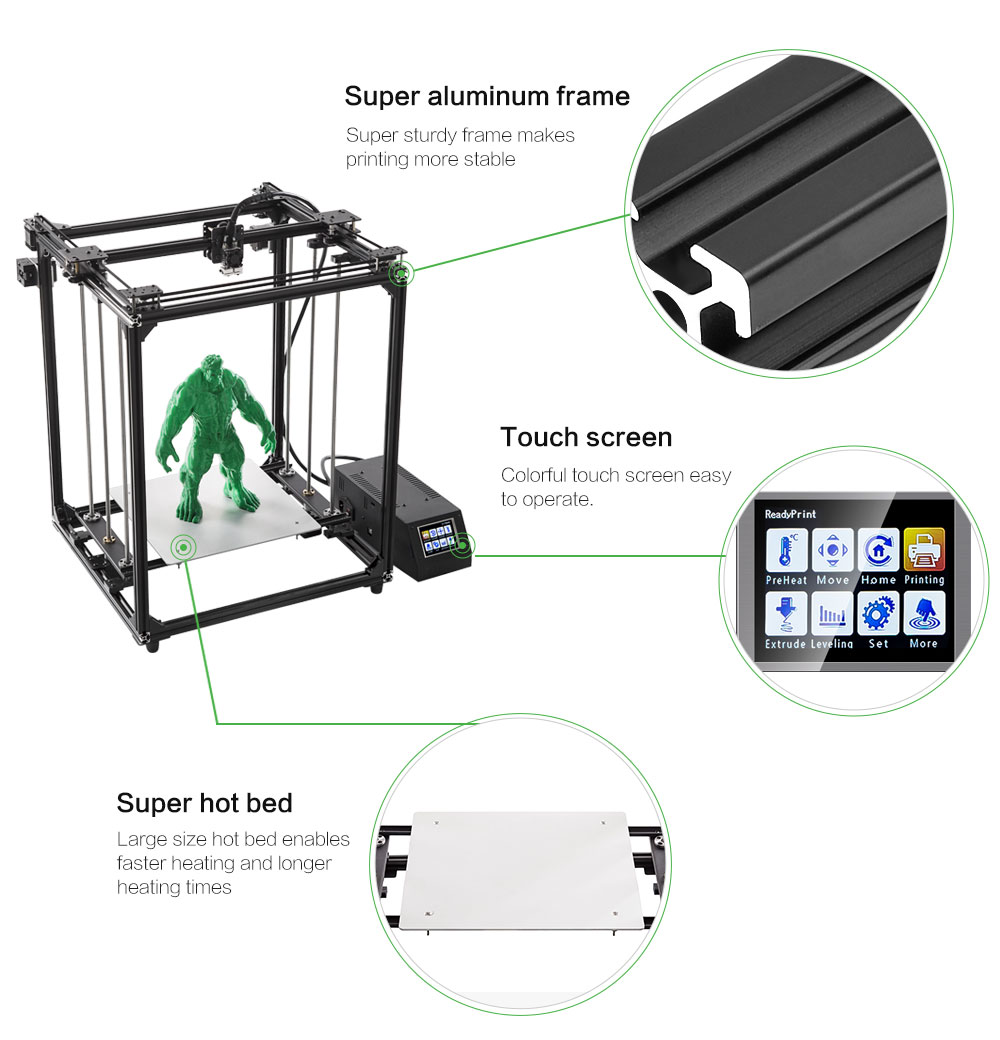 FLSUN CUBE Plus Large Size CoreXY 3D Printer