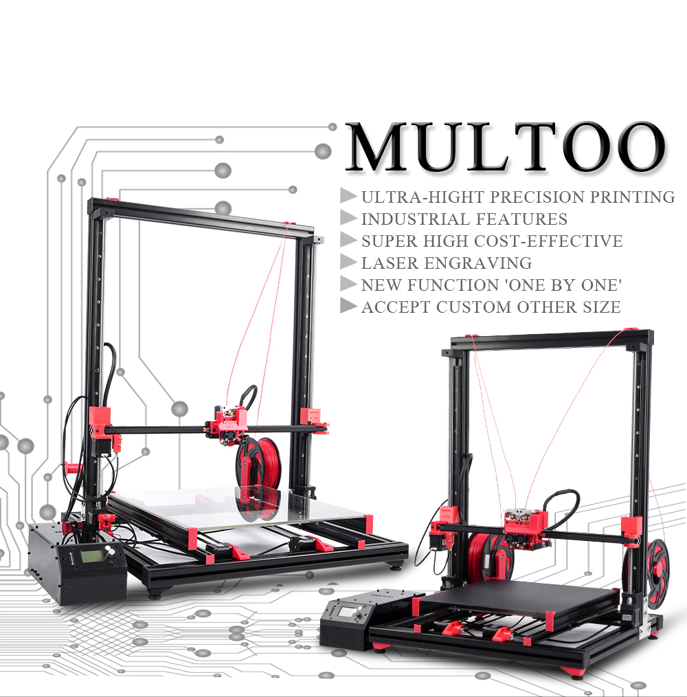 Multoo MT2 Large 3D Printer
