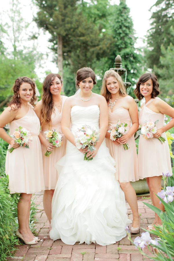 Bridesmaid dresses different colors same style as her
