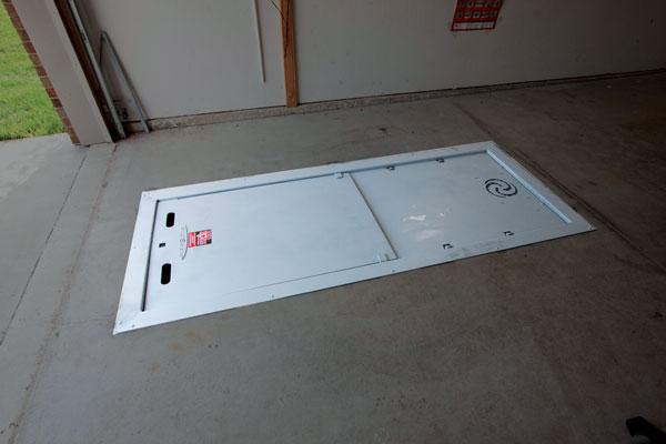 Garage Floor Storm Shelters : Surviving the storm
