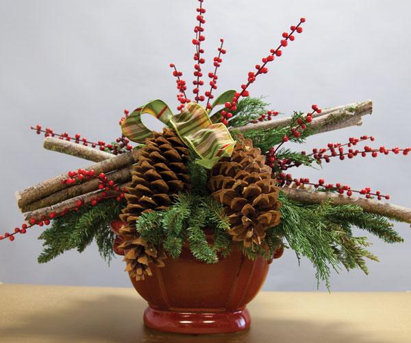 diy pinecone centerpiece