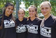 giocatrici di Forli softball in nazionale