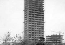 grattacielo di Cesenatico in costruzione