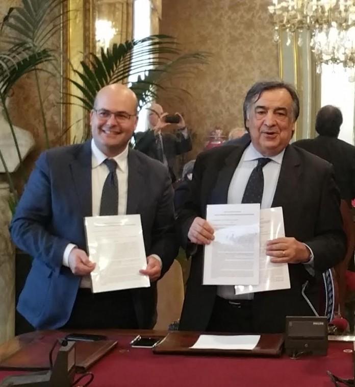 Francesco Onorato e Leoluca Orlando
