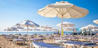 spiaggia, mare, ombrelloni