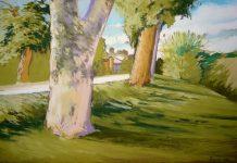 Giuseppe-Faretina-Platani-2009-pastello-secco-su-carta-35x50-cm.-circa-Torino.-2