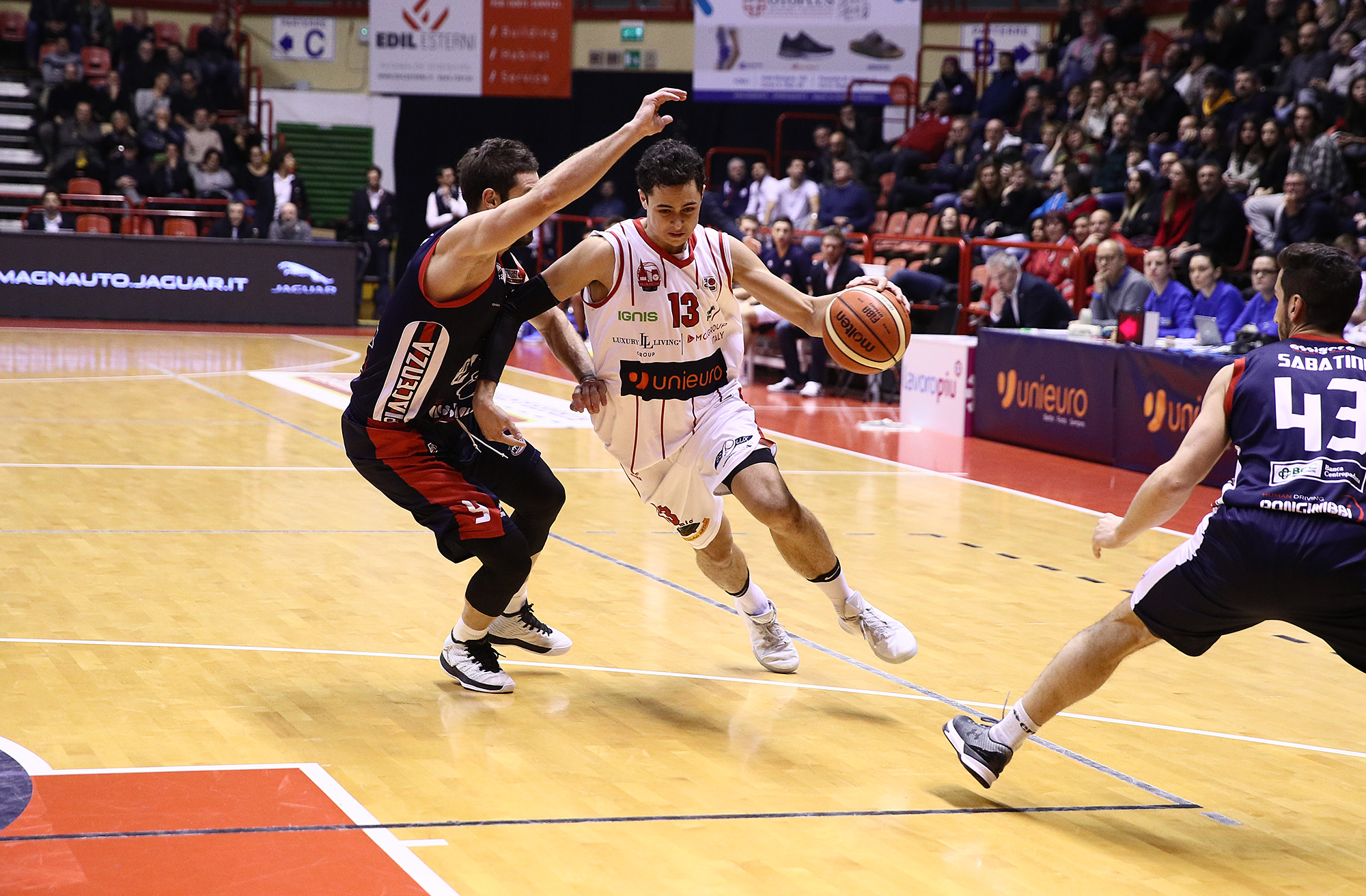 Basket Unieuro Forlì Marini con Piacenza