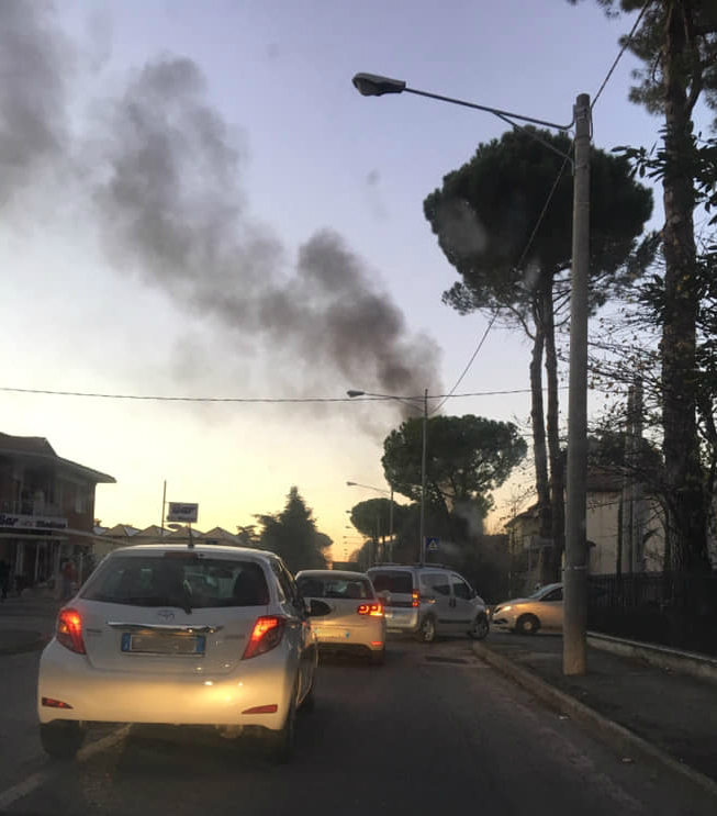 Incendio via Solombrini Forlì