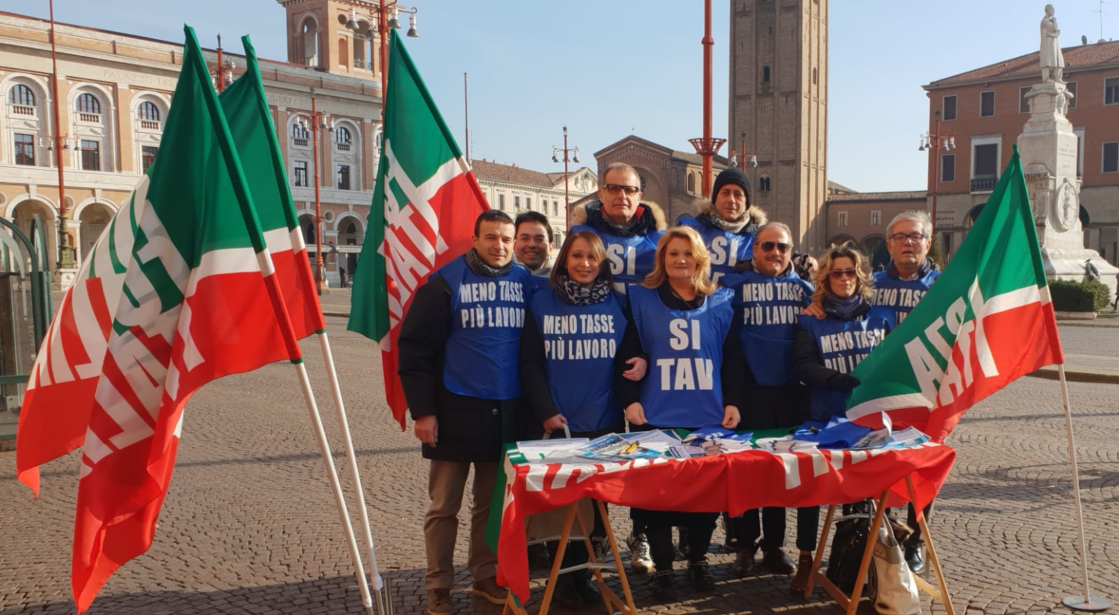 Banchetto Forza Italia