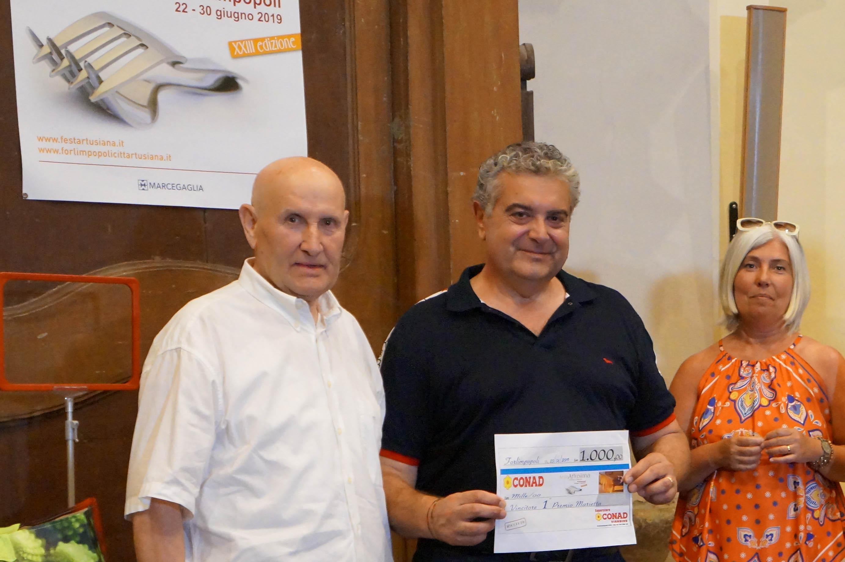 Premio Marietta 2019 a Bonometti