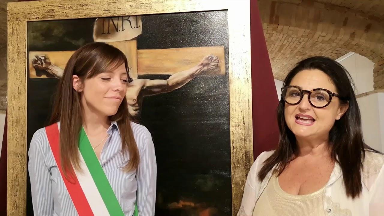 Il nuovo assessore Andrea Cintorino alla mostra Manoni