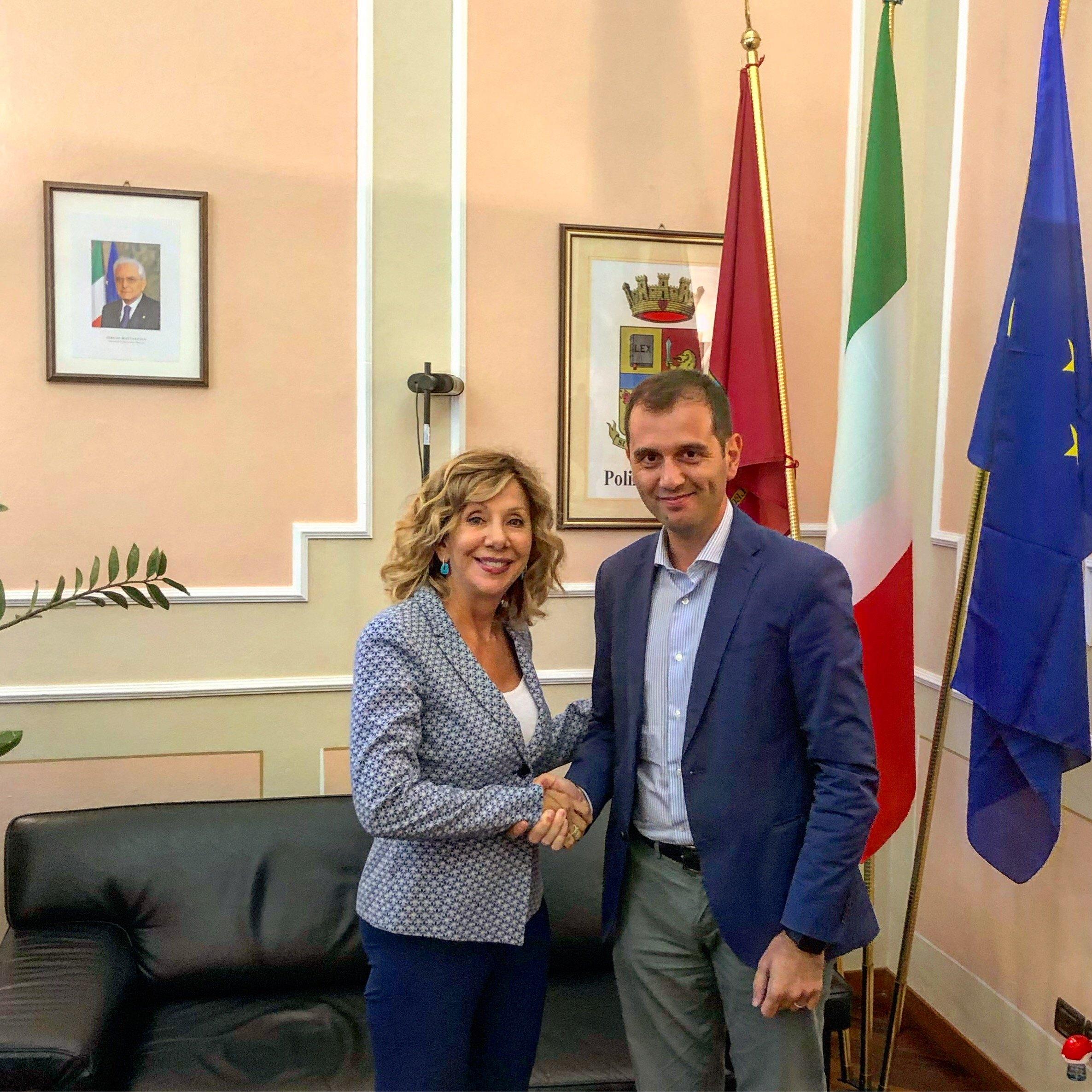 Marco Di Maio e questore Loretta Bignardi