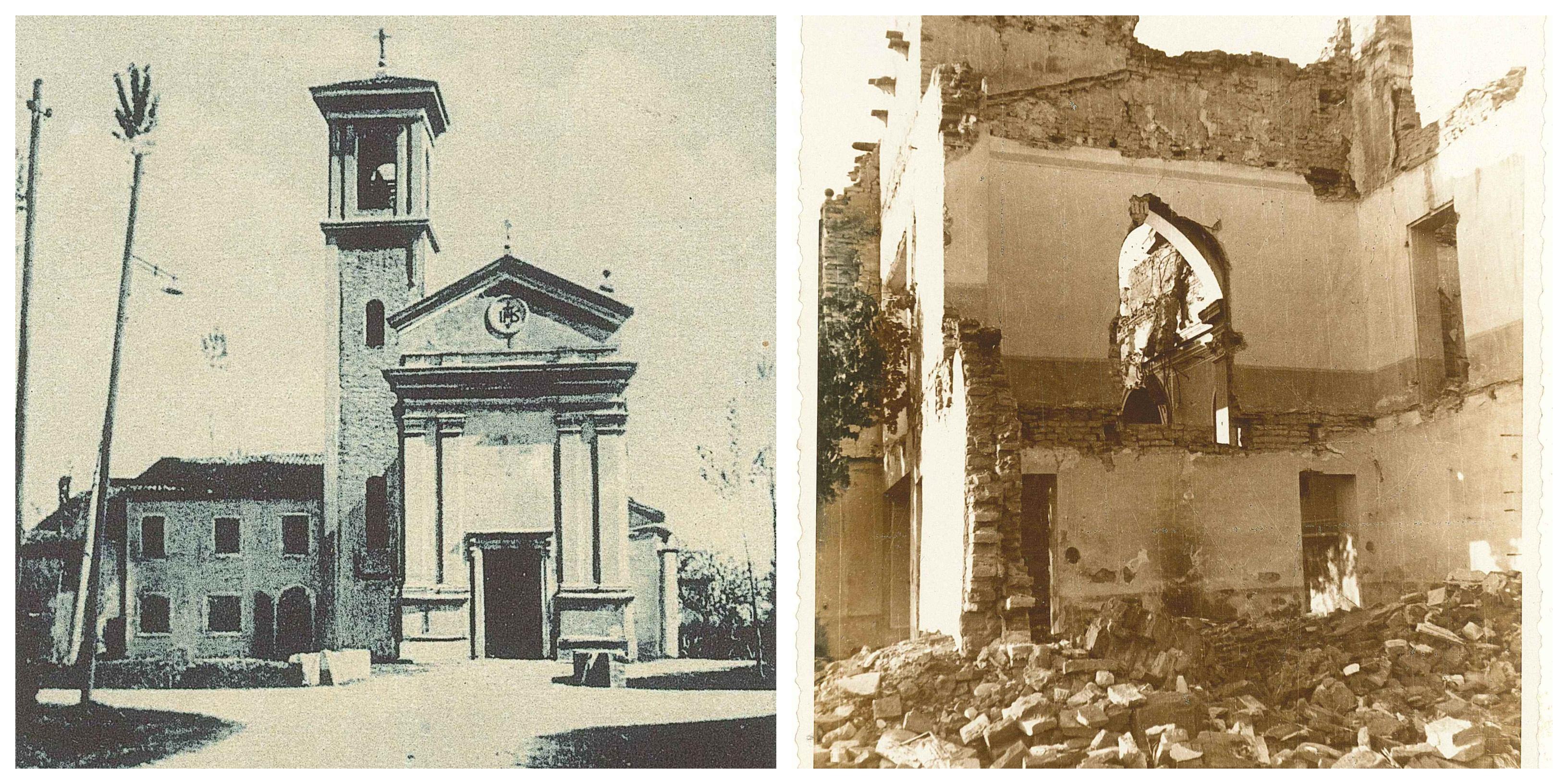 Chiesa-di-Roncadello-prima-e-dopo-la-guerra