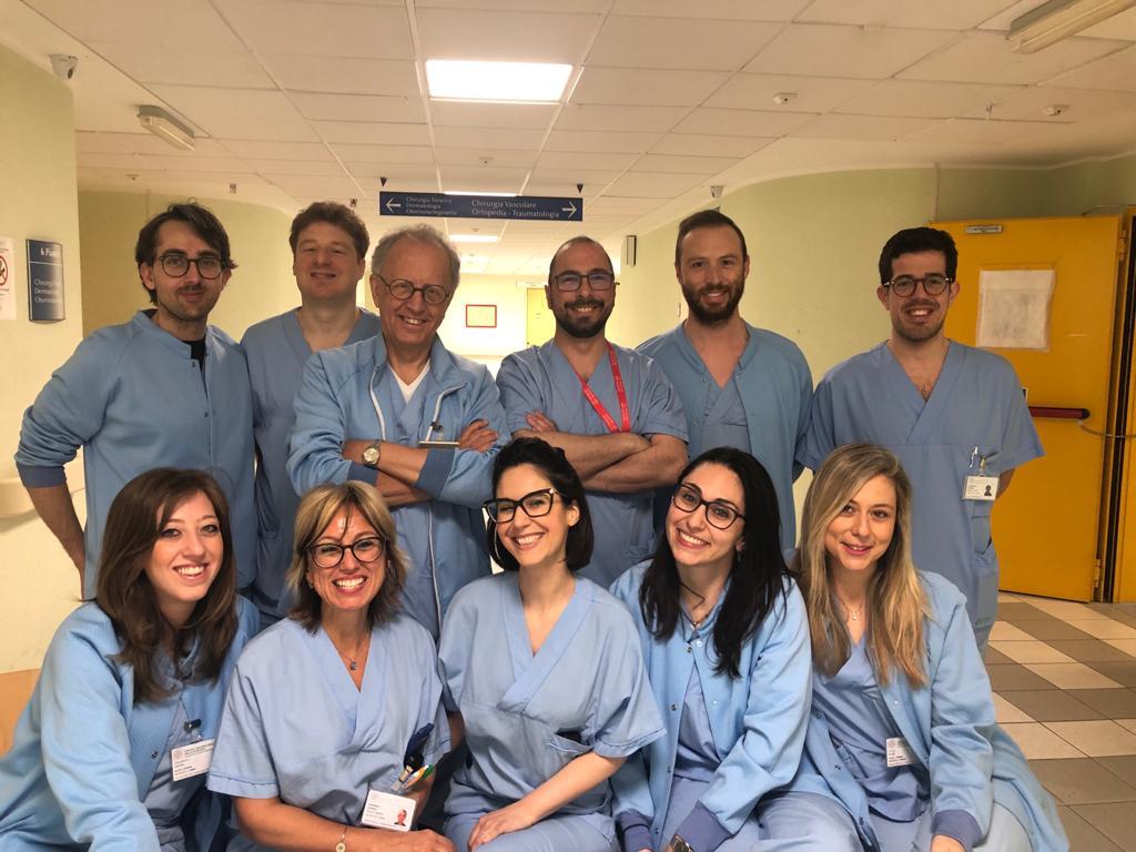 Claudio Vicini e il suo team
