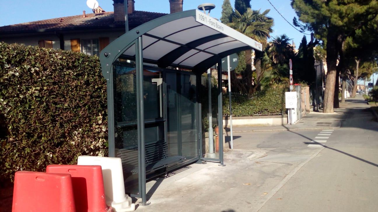 Pensilina autobus Foro Boario