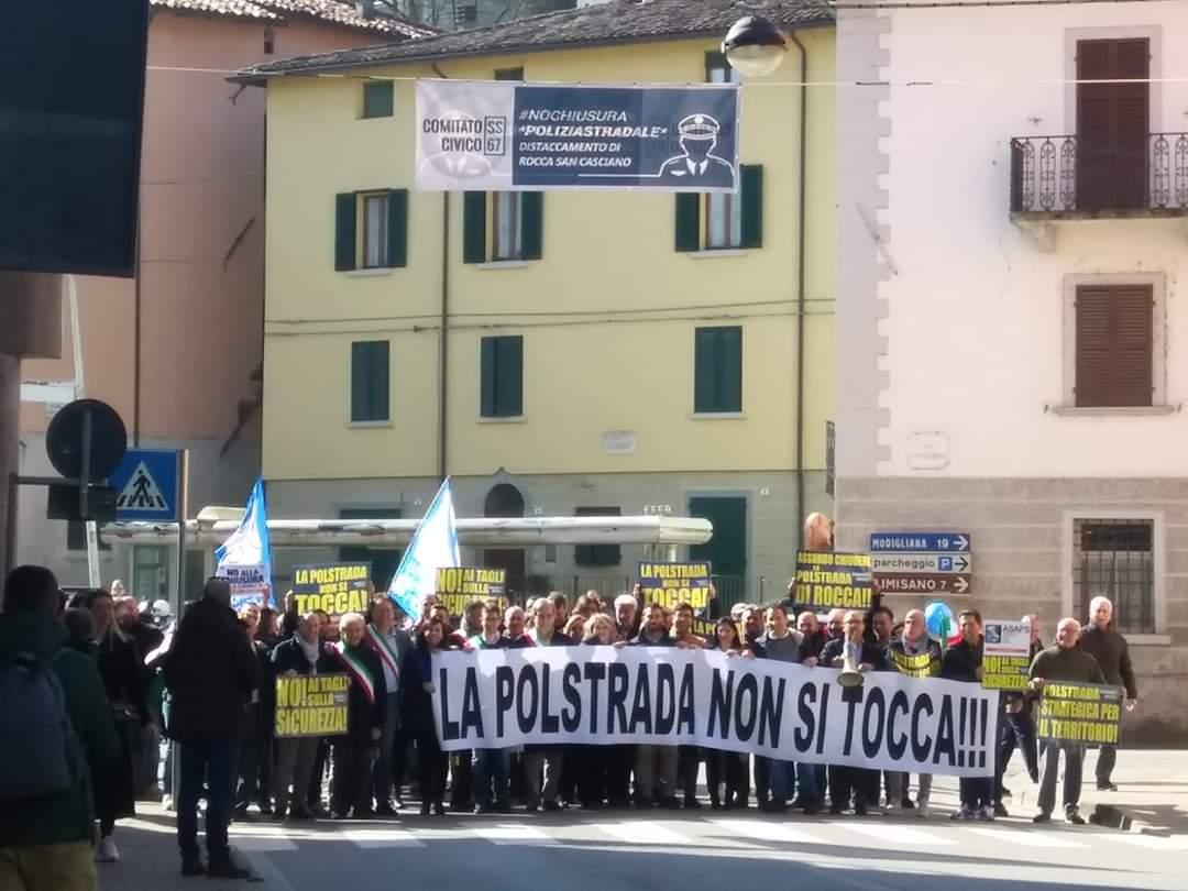 Manifestazione-a-Rocca-per-la-Polizia stradale