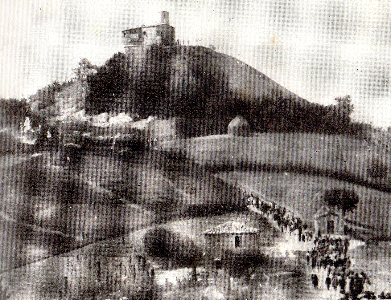 """Il-castello-di-Polenta Foto tratta dal libro """"Bertinoro Notizie Storiche"""" ed. 1938"""