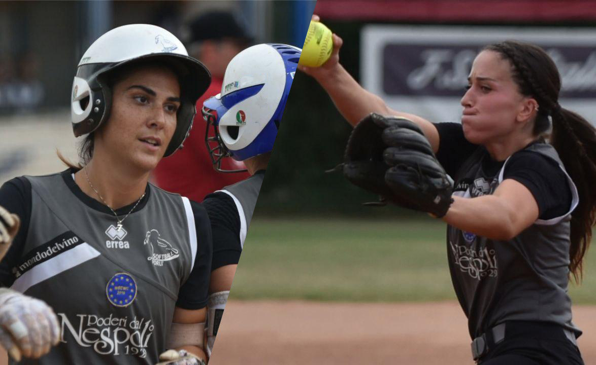Softball Beatrice-Ricchi-ed-Ilaria-Cacciamani-Poderi-dal-Nespoli-Forl