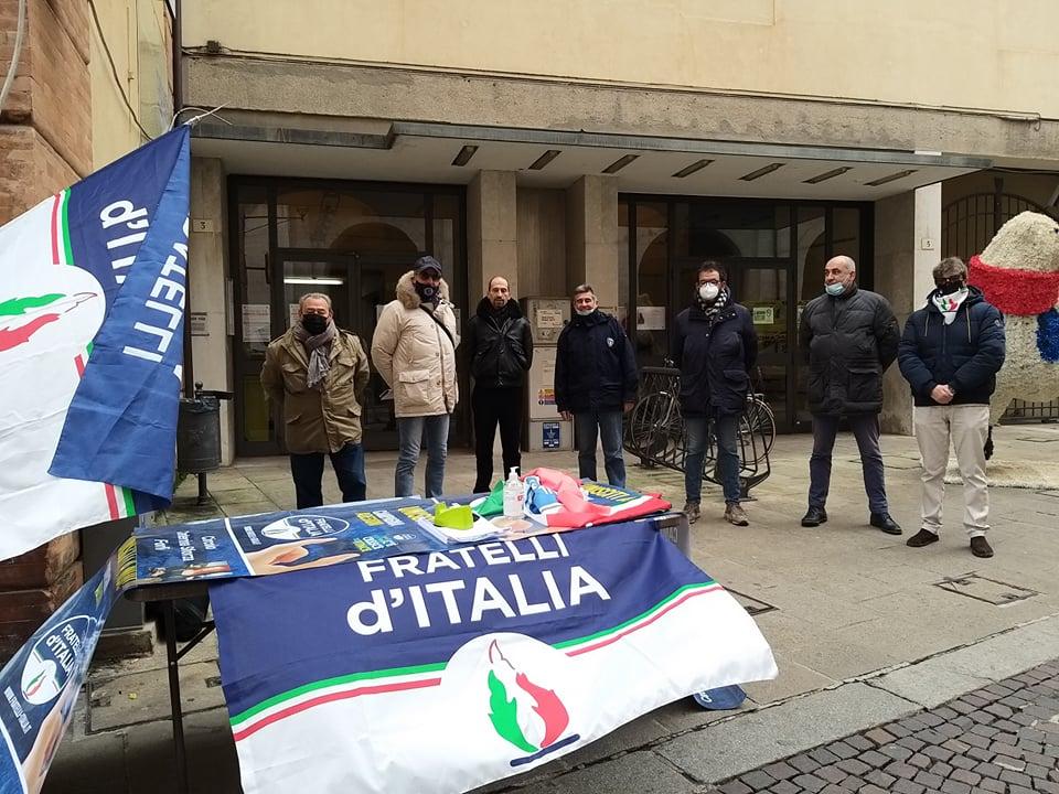 banchetto Forlì Fratelli d'Italia
