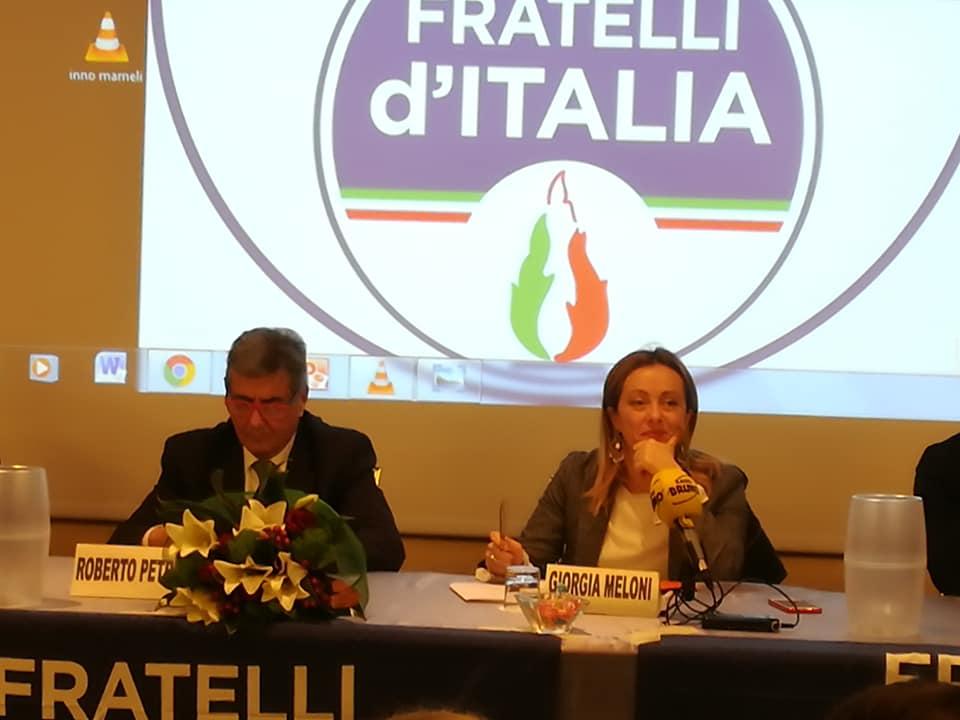 Fratelli d'Italia roberto-petri-e-giorgia-meloni