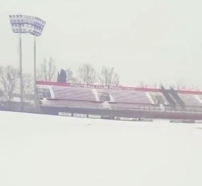 Stadio Morgagni con neve