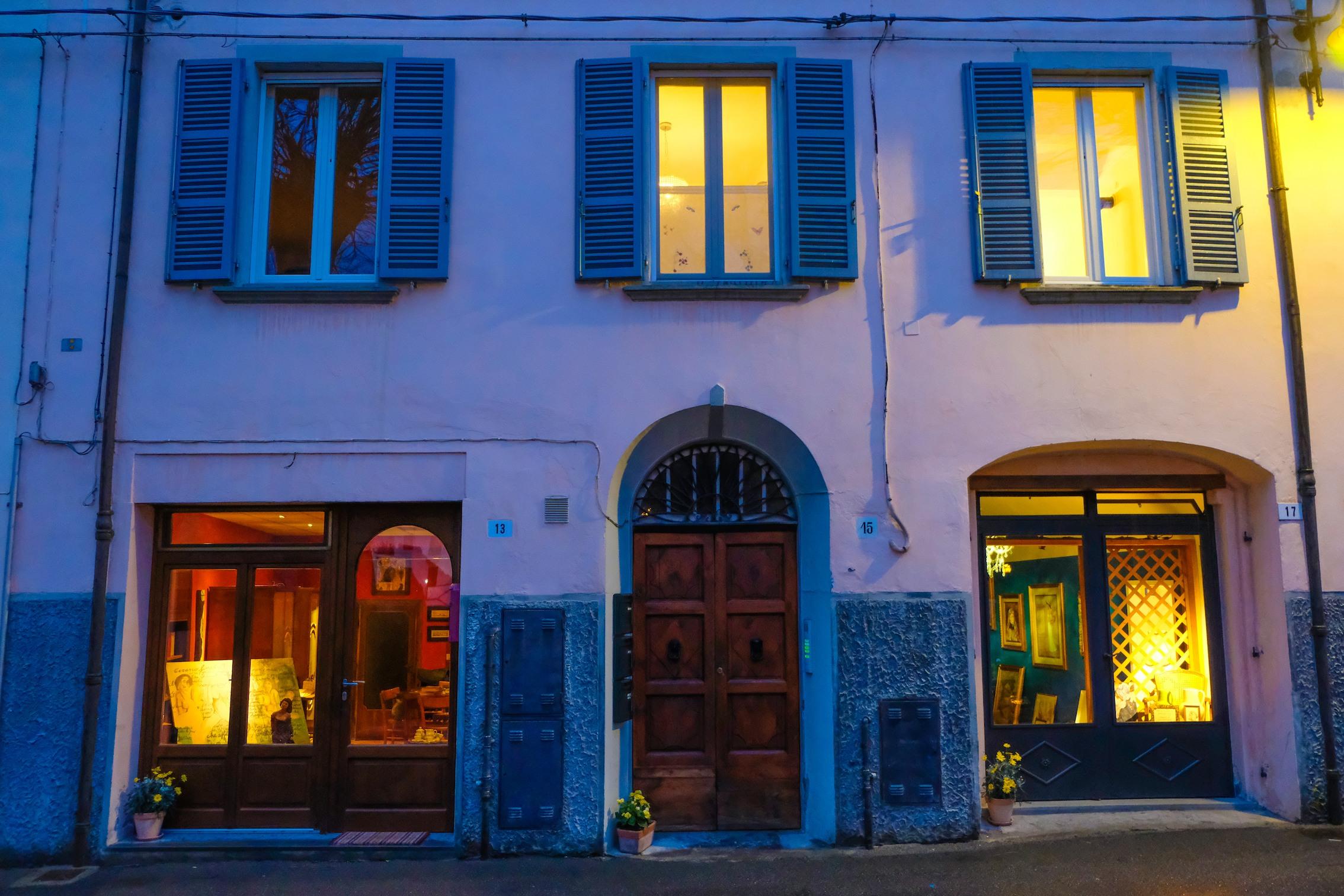 vetrine illuminate Modigliana