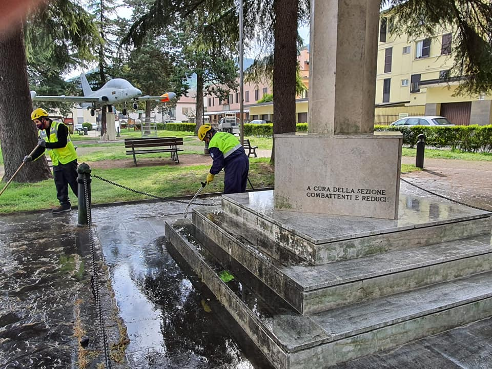 Civitella pulizia monumenti